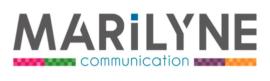 Marilyne communication Logo